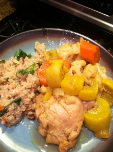 Moroccan Chicken Stew with Quinoa Pilaf