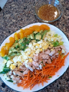 Asian Cobb Salad with Sesame Vinaigrette