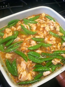 Orange Chicken with Snap Peas and Carrots
