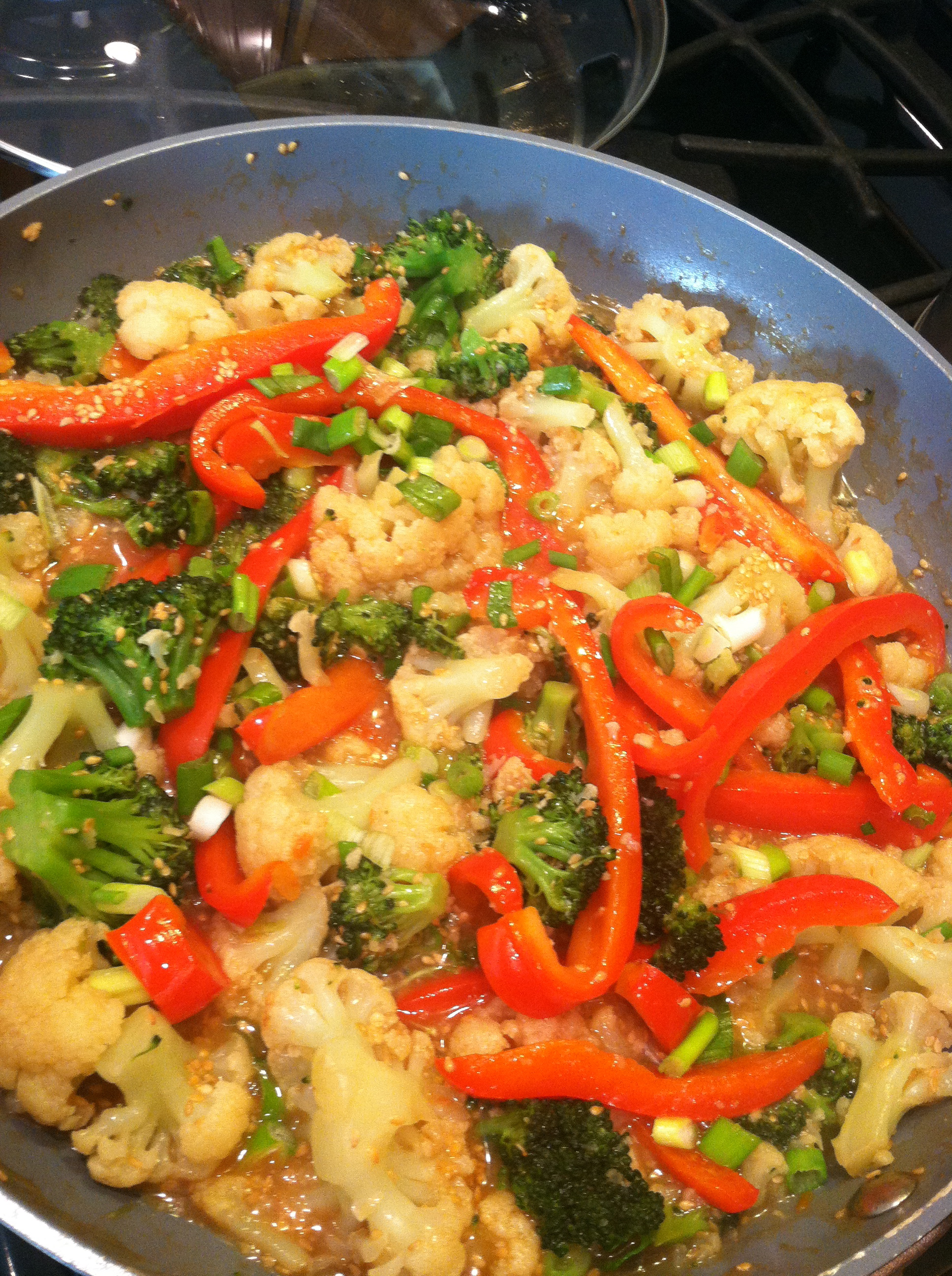 Roasted Ginger Vegetable Stir-Fry | Robin's Recipes n Food Blog