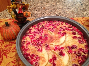 Pear and Cranberry Clafoutis