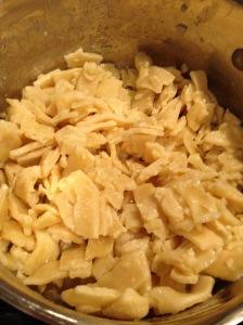 Cooked GF egg noodles