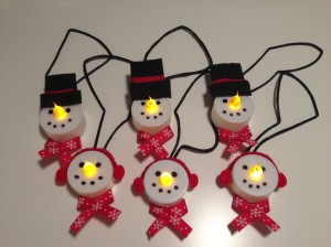 Snowman Tea Light Ornaments