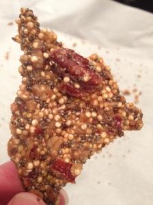 Quinoa Pecan Brittle
